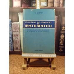 O. Sacter - Culegere de probleme de matematici