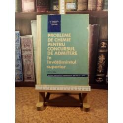 T. V. Marculetiu - Probleme de chimie pentru concursul de admitere in invatamantul superior