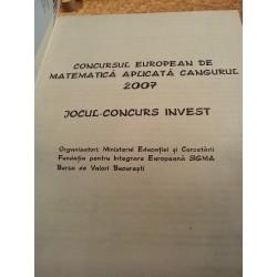 Concursul european de matematica aplicata Cangurul 2007