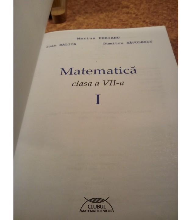 Marius Perianu - Matematica pentru clasa a VII a I