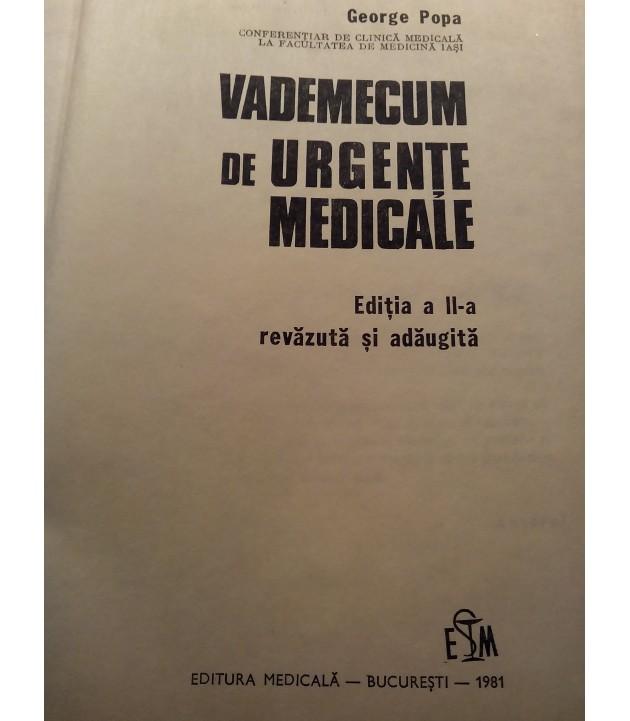George Popa - Vademecum de urgente medicale