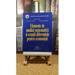 Judita Samuel - Elemente de analiza matematica si ecuatii diferentiale pentru economisti