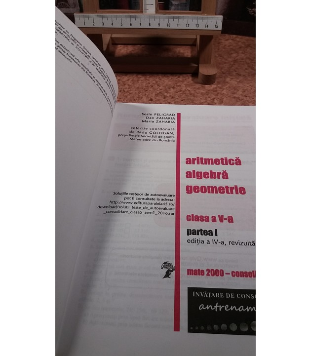 Sorin Peligrad - Mate2000+ Consolidare Matematica 5 parte I semestrul 1 aritmetica, algebra, geometrie