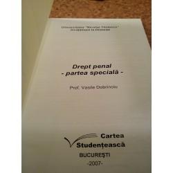 Vasile Dobrinoiu - Drept penal Partea speciala