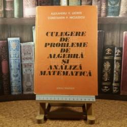 A. V. Leonte - Culegere de probleme de algebra si analiza matematica
