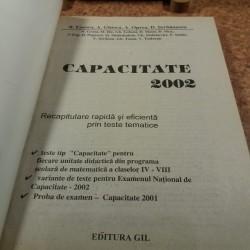 B. Enescu - Capacitate Recapitulare rapida si eficienta prin teste tematice 2002