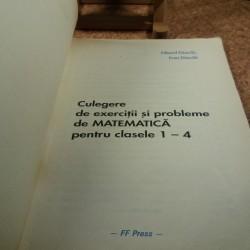 Eduard Dancila - Culegere de exercitii si probleme de matematica pentru clasele 1 - 4