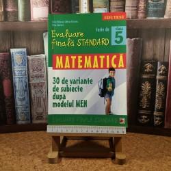 Sorin Peligrad - Matematica Evaluare finala standard 30 de variante de subiecte dupa modelul MEN clasa 5