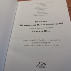 Adrian Nicolae Romonti - Simulare examenul de bacalaureat 2018 Limba si literatura romana clasa a XI a Filiera tehnologica