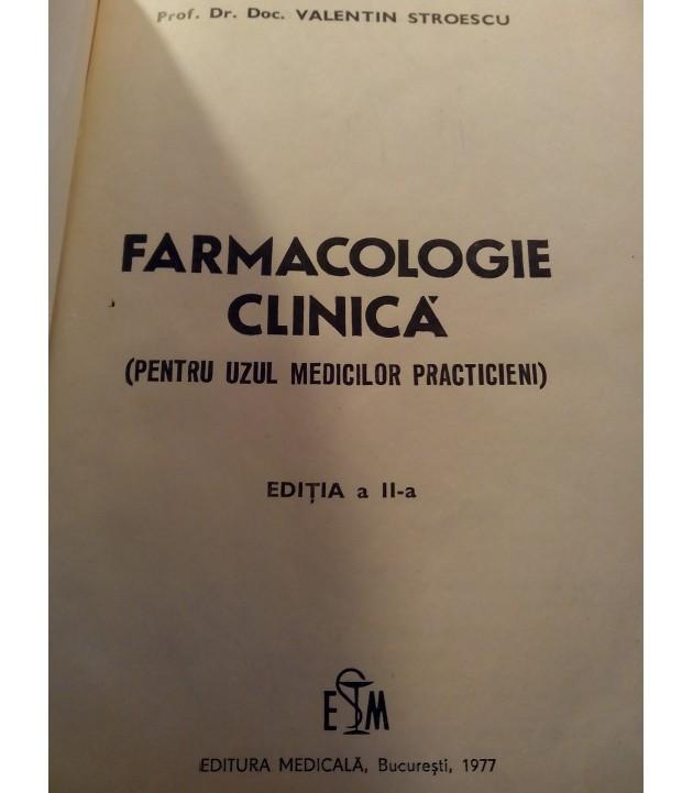 V. Stroescu - Farmacologie clinica