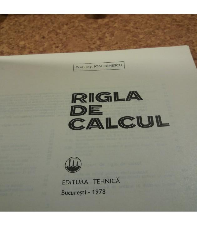 Ion Irimescu - Rigla de calcul