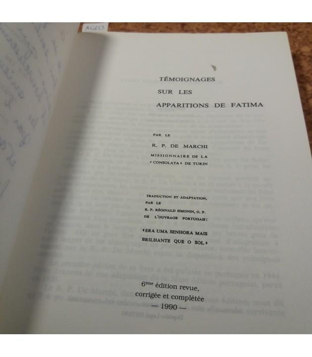 R. P. de Marchi - Temoignages sur les apparitions de Fatima