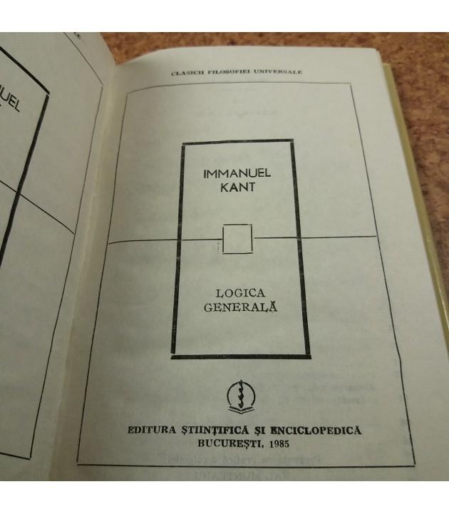 Immanuel Kant - Logica generala