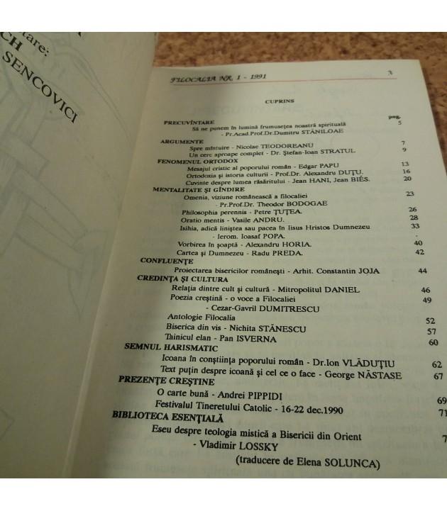 Filocalia revista de credinta si cultura Nr. 1
