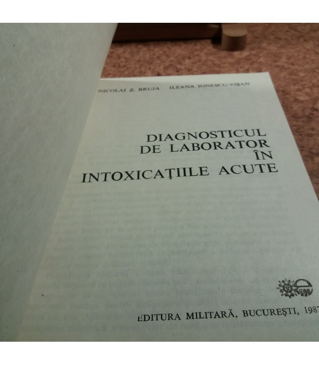Nicolai Z. Bruja - Diagnosticul de laborator in intoxicatiile acute