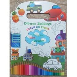 Carte colorat - Diverse buildings