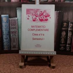 Maria Popescu - Matematici complementare clasa a V a Semestrul I