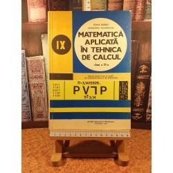 Ioana Barbat - Matematica aplicata in tehnica de calcul clasa a IX a