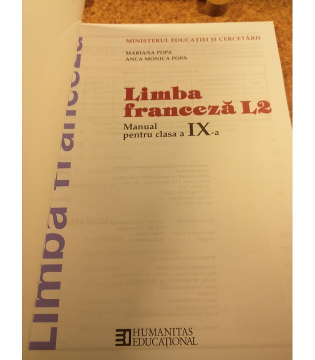 Mariana Popa - Limba franceza manual pentru clasa a IX a