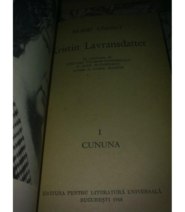 Sigrid Undset - Kristin Lavransdatter vol. I Cununa