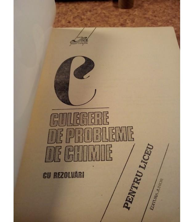 E. Postelnicu - Culegere de probleme de chimie cu rezolvari